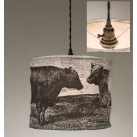 Cows Canvas Pendant Light