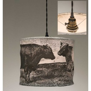 Cows Canvas Pendant Light