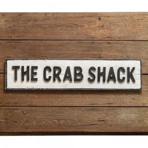 Crab Shack Wood Wall Sign