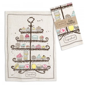Cupcakes Tea Towel