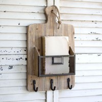 Cutting Board Rack with Basket