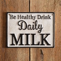 Daily Milk Cast Iron Wall Sign