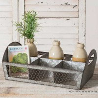Divided Wire and Metal Caddy