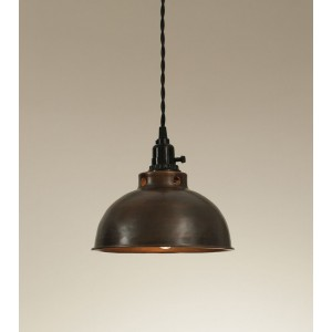 Dome Pendant Light - Aged Copper
