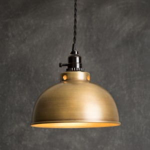 Dome Pendant Light - Antique Brass
