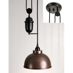 Dome Pulldown Pendant Light
