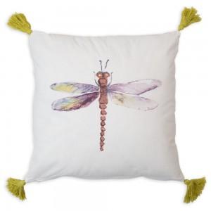 Dragonfly Tassel Throw Pillow