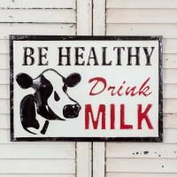 Drink Milk Metal Sign