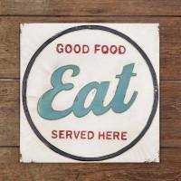 """Eat"" Metal Wall Sign"