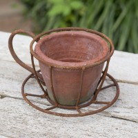 Espresso Cup Flower Pot