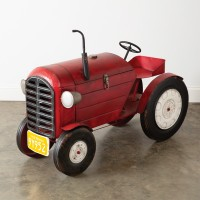 Extra Large Red Farm Tractor