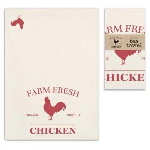 Farm Fresh Chicken Tea Towel