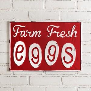 Farm Fresh Eggs Metal Wall Sign