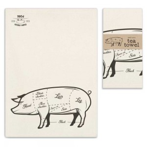 Farm Fresh Pork Tea Towel