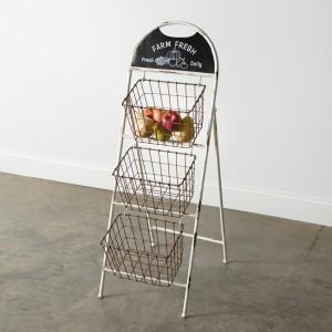 Farm Fresh Three Basket Display