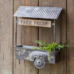 Farm Fresh Truck Bed Wall Planter