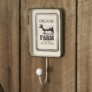 """Farm"" Hook with Decorative Tray"