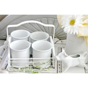 Farmhouse Coffee Mugs and Caddy
