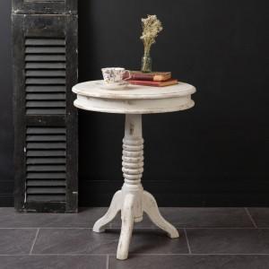 Farmhouse Pedestal Side Table