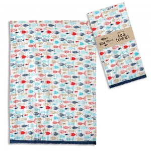 Fish in the Sea Tea Towel - Box of 4