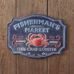 Fisherman's Market Wall Sign