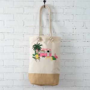 Flamingo Camper Market Bag