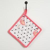 Flamingo Poka-Dot Pot Holder-Box of 4