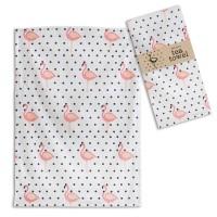Flamingo Polka-Dot Tea Towel - Box of 4
