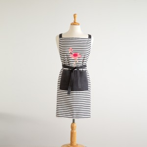Flamingo Striped Apron