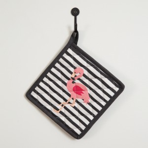 Flamingo Striped Pot Holder - Box of 4