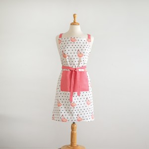 Flamingo Polka-Dot Apron