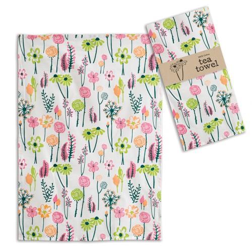 Floral Tea Towel - Box of 4