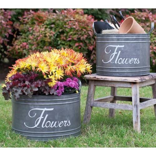 Flower Bins Set of 2