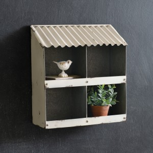 Four Bin White Wall Organizer