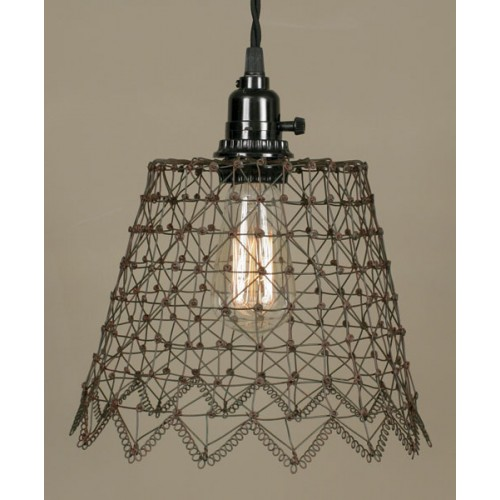 French Wire Pendant Light