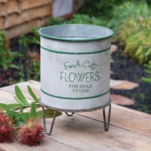 Fresh Cut Flowers Bin and Stand