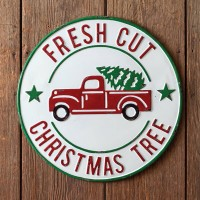 Fresh Cut Round Wall Sign