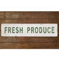 """Fresh Produce"" Metal Wall Sign"