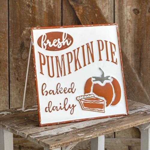 Fresh Pumpkin Pie Easel Sign
