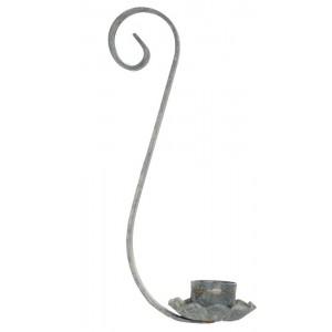 Galvanized Mason Jar Taper Candle Holder - Quart