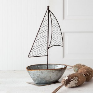 Galvanized Sailboat