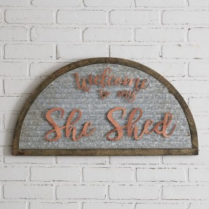 Galvanized She Shed Sign