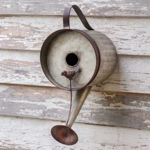 Galvanized Watering Can Birdhouse