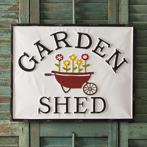"""Garden Shed"" Metal Sign"
