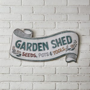 Garden Shed Scroll Wall Sign