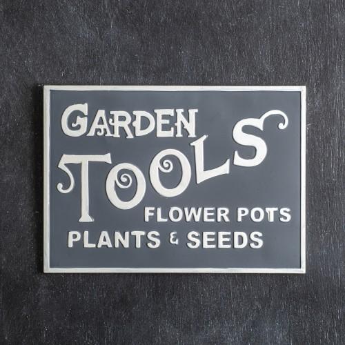 Garden Tools Metal Wall Sign