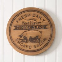 """General Store"" Wood Lazy Susan"
