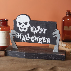 Ghouls From The Grave Halloween Tabletop Sign