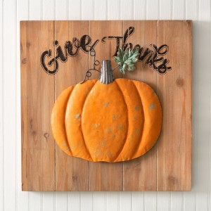 Give Thanks Wood Wall Sign