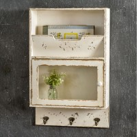 Glass Front Cabinet with Hooks